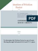 Determining Friction Factor