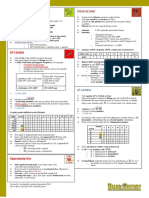 VV Summary Sheet