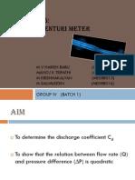 Venturimeter (discharge coefficient)