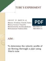 Pitot Tube(velocity profile)