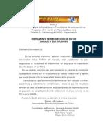 Cuestionario Aplicado a Docentes (Proyecto - Fatla)
