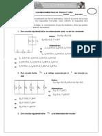 Examen Bimestral (Tercer Bimestre)