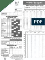 Protocolo Registro WISC IV