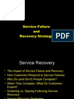 Service Marketing 6 - (Service Failure and Revival)