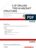 Analysis of Drilling Parameters in Aircraft