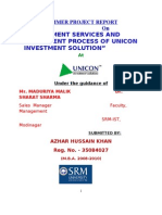 Unicon Investment Process SOLUTION