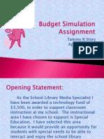 Budget Simulation Assignment
