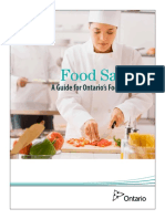 Training Manual for Ontario Food Handlers Certificate