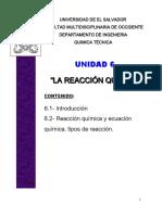 Unidad 6 Quimica Tecnica