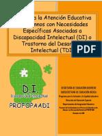 Guía Para La Atención Educativa de Alumnos Con D I DICIEMBRE 2015