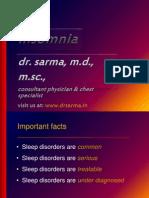Insomnia by Dr Sarma