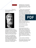 Philosophy Newsletter - Epicurus