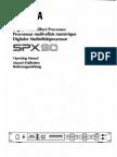 Yamaha SPX90 Manual