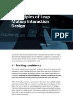 Principles of  Interaction Design