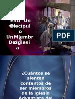 La Diferencia Entre Un Miembro y Un Discipulo - PowerPoint