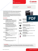 Canon ImageClass MF4550D Specifications Brochure