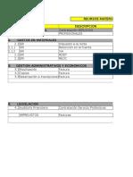 Formato de Presupuesto Para Gastos de Materiales
