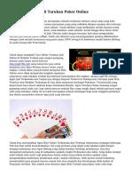 Tips Mendaftar Judi Taruhan Poker Online