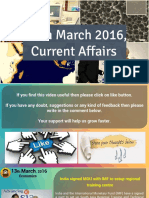 13 March 2016 Current Affairs for Competition Exams