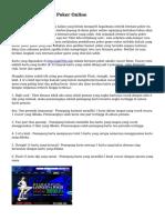 Tips Cara Bermain Poker Online