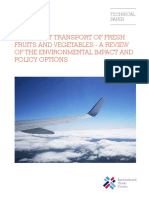 Airfreight Transport of Fresh Fruits and Vegetables - A Review of the Environmental Impact and Policy Options