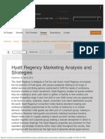Hyatt Regency Marketing Analysis and Strategies