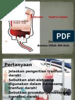 Tata Cara Pemberian Tranfusi Darah