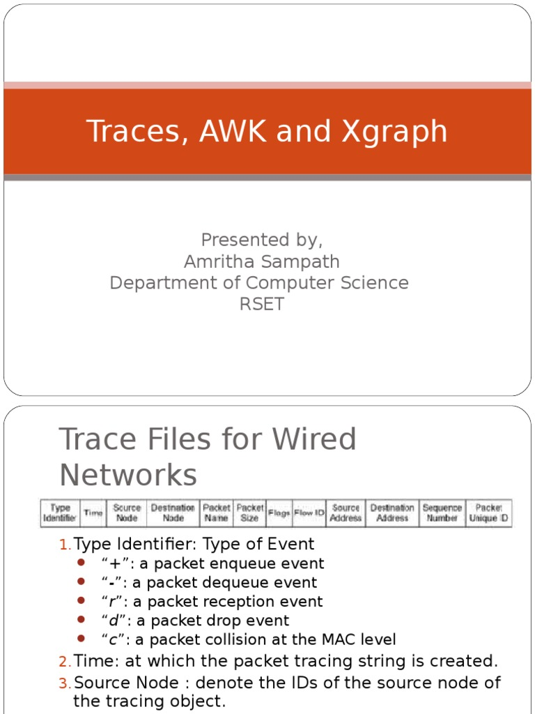 NS2 presentation-AWK+Wireless | Network Packet (157 views)