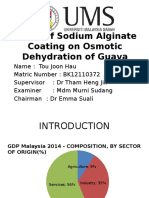 Effect of Sodium Alginate Coating on Osmotic Dehydration of Guava