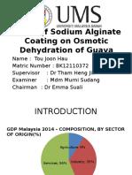 Effect of Sodium Alginate Coating on Osmotic Dehydration of Guava