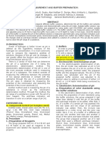 pH MEASUREMENT AND BUFFER PREPARATION