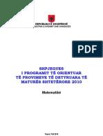 Matura 2010 - Matematika Final