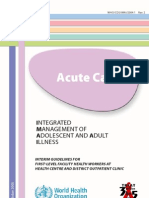 integrated management of adolescent and adult illnesses Acute
