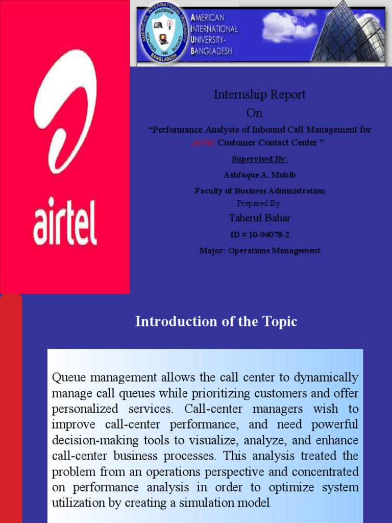 Report of Airtel Ppt | Call Centre (19 views)