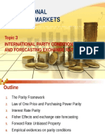 Topic 3_Intl Parity Conditions and Forecasting Exchange Rates