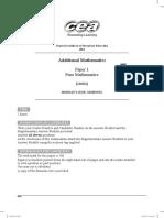 GCSE ADDM Past Papers Mark Schemes Standard MayJune Series 2014 14319