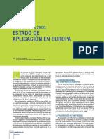Red Natura 2000 Estado de Aplicación en Europa