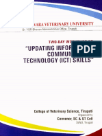 Updating Information Communication Technology (ICT) Skills