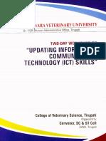 Updating Information Communication Technology (ICT) Skills