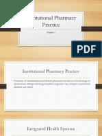 Institutional Pharmacy Practice