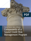 Components of a Sound Credit Risk Management Program