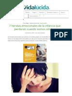 7 Heridas Emocionales de La Infancia Que Perduran