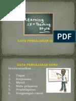 Gaya Pengajaran Guru