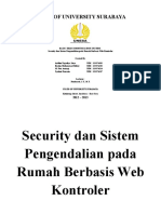 (Presentasi) Security Dan Sistem Pengendalian Pada Rumah Berbasis Web Kontroler