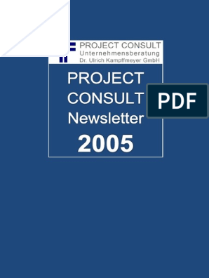 De Project Consult Newsletter 2005 Project Consult