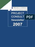[DE] PROJECT CONSULT Newsletter 2007 | PROJECT CONSULT Unternehmensberatung Dr. Ulrich Kampffmeyer GmbH | Hamburg | Kompletter Jahrgang 2007