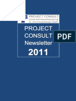 [DE] PROJECT CONSULT Newsletter 2011 | PROJECT CONSULT Unternehmensberatung Dr. Ulrich Kampffmeyer GmbH | Hamburg | Kompletter Jahrgang 2011