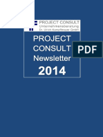 [DE] PROJECT CONSULT Newsletter 2014 | PROJECT CONSULT Unternehmensberatung Dr. Ulrich Kampffmeyer GmbH | Hamburg | Kompletter Jahrgang 2014