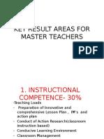 Kra for Master Teachers