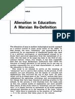 Alienation in Education